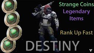 getlinkyoutube.com-Destiny: How To Get Strange Coins (Ranking Up Fast & Legendary Items On Destiny)