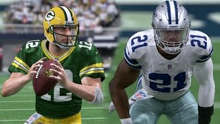 getlinkyoutube.com-Madden 17 (Xbox One) Cowboys vs Packers | 2017 Divisional Playoff Simulation