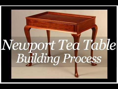 Newport Tea Table Building Process handmade by Doucette and Wolfe Furniture Makers