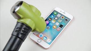 getlinkyoutube.com-Rose Gold iPhone 6S Hammer & Knife Test!