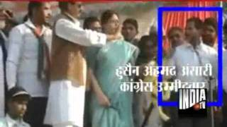 getlinkyoutube.com-Actor Nagma Explodes As Congress Candidate's Finger Caressed Her While Garlanding