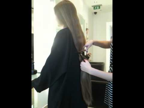 Cutting long hair!!! :D
