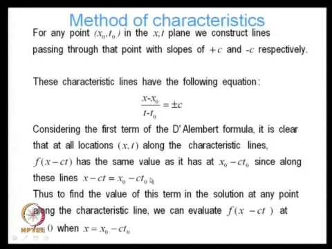 Mod-01 Lec-22 Analytical Methods for Solving the Wave Equation