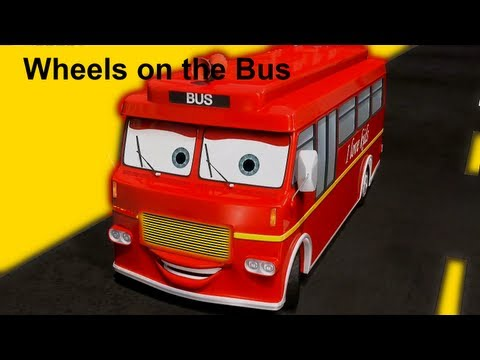 Wheels On The Bus | nursery rhymes & children songs with lyrics -JfwqSXmJ-mE