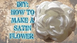 getlinkyoutube.com-DIY: How to make a Satin Flower (No Die Needed) - Craftbrulee