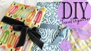 DIY Cute Travel Washable Organizer (Sew & NO Sew Method)