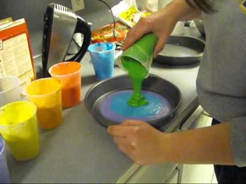 How to bake a rainbow cake