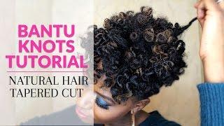 getlinkyoutube.com-Bantu Knots Tutorial Natural Hair Tapered Cut
