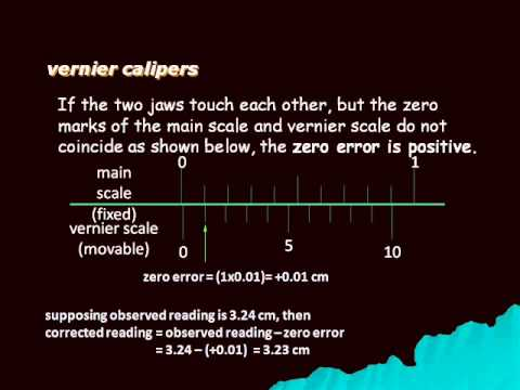 Vernier Calipers - Error Calculation