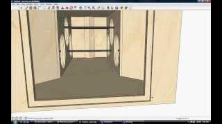 "getlinkyoutube.com-RAM Designs: Monster Bandpass Box Design 6x 18"" woofers"