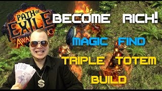 getlinkyoutube.com-Path of Exile 2.1 – Magic Find Triple Totems Build Guide – How To Become Rich!