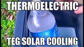 getlinkyoutube.com-DIY SOLAR COOLING REFRIGERATION Solar Panel thermoelectric Peltier Cooler