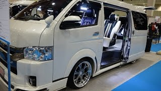getlinkyoutube.com-(4K)FEEL TOYOTA HIACE V RAVE8LTD modified ハイエースカスタム - 大阪モーターショー2015