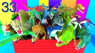 getlinkyoutube.com-19 Incredible Dinosaurs Toy Collection Kids Toys T rex Spinosaurus Dino