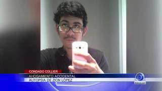 Ahogamiento accidental, autopsia de Zion López
