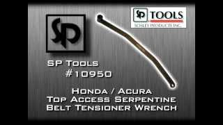Sp tools 10950 honda acura serpentine belt tensioner wrench sp tools 10950 honda acura serpentine belt tensioner wrench youtube sciox Image collections