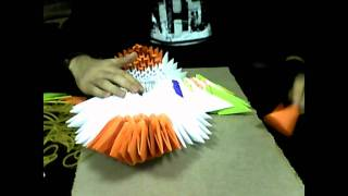 getlinkyoutube.com-Origami 3D: Eagle