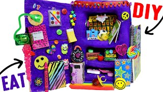 getlinkyoutube.com-DIY Edible School Locker | EAT Locker Decor, Combination Lock, Books &  Back To School Supplies!