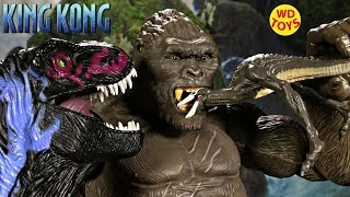 getlinkyoutube.com-New King Kong Skull Island Skull Crawler  Vs Trex Jurassic Park Creature Contact Unboxing