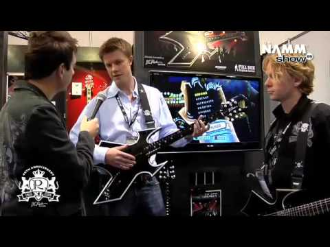 Robert Egnacheski - NAMM 2009 - Warbeast Game Controller for Guitar Hero & Rockband - B.C. Rich Guitars