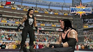 WWE 2K17 Wrestlemania 33 - Roman Reigns vs Undertaker - Career-Threatening Match (Custom)