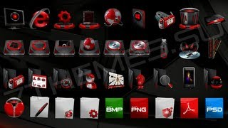 getlinkyoutube.com-Pack De Iconos Para IconPackager - Exelentes Iconos Black - 2013