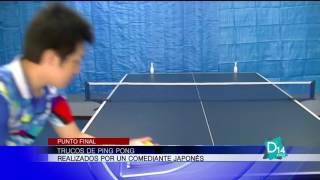 Trucos de Ping Pong realizados por un comediante japonés