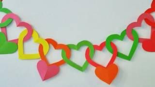 getlinkyoutube.com-Guirnalda de corazones - Adornos para colgar - Manualidades para todos