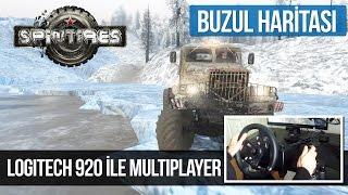 getlinkyoutube.com-SpinTires Multiplayer - Buzul Haritası [Logitech G920]