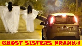 getlinkyoutube.com-REAL GHOST SISTERS PRANK (BEST FUNNY SCARY HILARIOUS) EXTREME REACTIONS