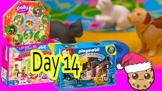 getlinkyoutube.com-Polly Pocket, Playmobil Holiday Christmas Advent Calendar Day 14 Toy Surprise Opening Video