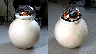 getlinkyoutube.com-XRobots - Star Wars EP7 BB-8 droid Prototype PART 2, Ball Balancing Robot