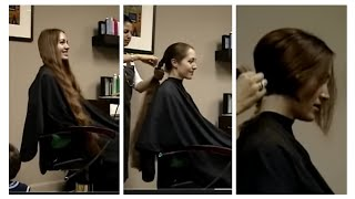 getlinkyoutube.com-haircut on redhead long to short hair cut   ( make sure to like and comment)