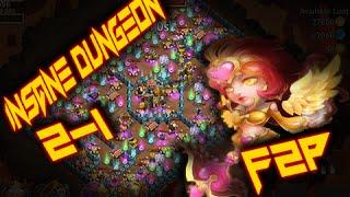 getlinkyoutube.com-Castle Clash: Insane Dungeon 2-1 ❚ 3 Flame ❚ F2P