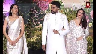 Aishwariya Rai, Abhishek Bachchan, Karishma Kapoor At Sonam Kapoor's Wedding Reception