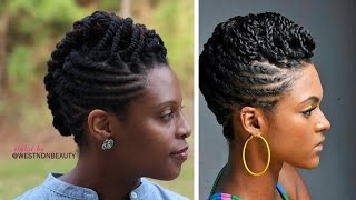 getlinkyoutube.com-Styled by westNDNbeauty| Twist, Roll, & Braid Natural Hair Updo Tutorial