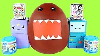 getlinkyoutube.com-DOMO-KUN Frozen Fashems Adventure Time Tokidoki Unicorns Shopkins Huge Play Doh Surprise Egg