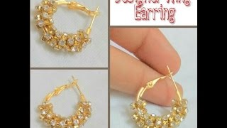 How To Make Ring Type Earring At Home - Tutorial