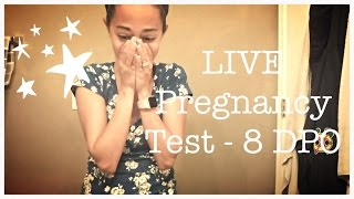 getlinkyoutube.com-LIVE PREGNANCY TEST - 8 DPO - CYCLE #5 - BABY #4