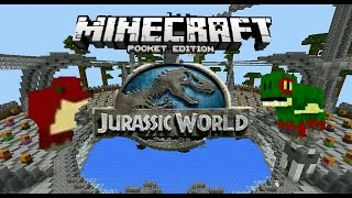 getlinkyoutube.com-Jurassic World//Minecraft Pocket Edition//Map//Shops, Dinosaurs, and More