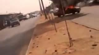 جني يقود سياره محترقه في الرياض ﻻ يفوتك