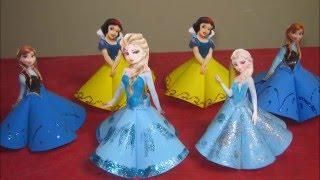 getlinkyoutube.com-Como Fazer Lembrancinha Tubete da Elsa Frozen, Anna Frozen e Branca de Neve Passo a Passo