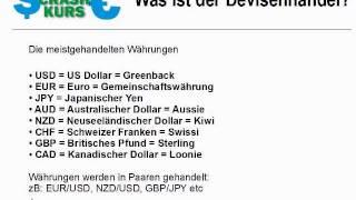 Was ist der Devisenhandel?