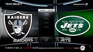 getlinkyoutube.com-MADDEN NFL 15 PS4 Full Gameplay: Raiders vs Jets - Week 1 NFL Regular Season Matchup Simulation