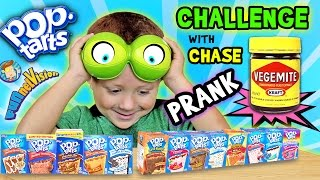 getlinkyoutube.com-POP TART CHALLENGE & VEGEMITE PRANK on 4 Year Old CHASE (FUNnel Vision w/ Parents Battle)