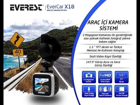 Everest EVERCAR X18 LCD 1,5 TFT Ekran 1080P Arac Ici Kamera