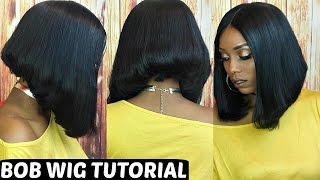 getlinkyoutube.com-How To Make/Cut and Style a Bob Wig Tutorial   Start To Finish BFF Hair