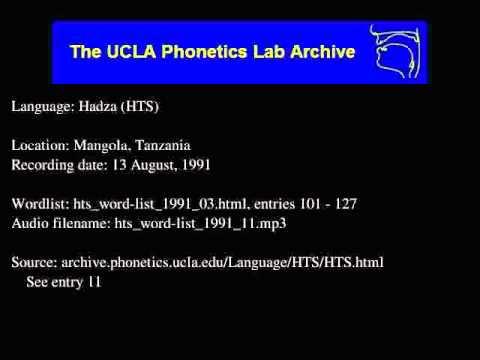 Hadza audio: hts_word-list_1991_11