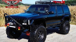 getlinkyoutube.com-1997 Jeep XJ Cherokee 4x4 Off Road Black