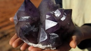 "getlinkyoutube.com-The Crystal Collector:  ""Amethyst hunt at Diamond Hill Mine, South Carolina"""